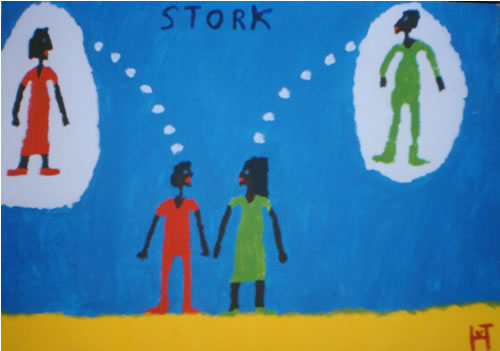 Picture of the painting: 'Stork - Dreampartners'