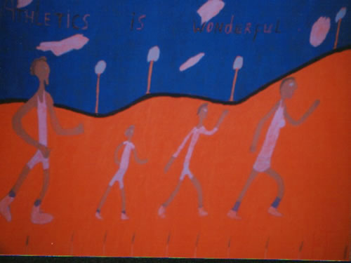 Picture of the painting: 'Athletics is Wonderful - Athletics'