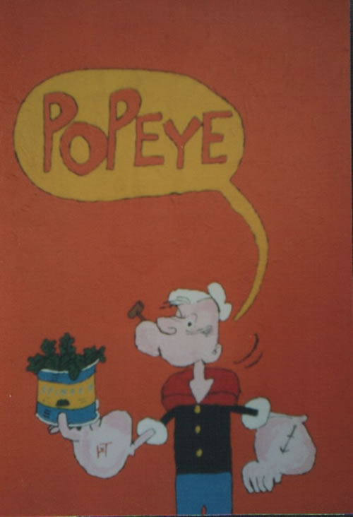 Picture of the painting: 'Popeye - A sailor.'