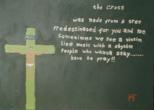 Picture of the painting: 'The Cross - Christ at the cross.'