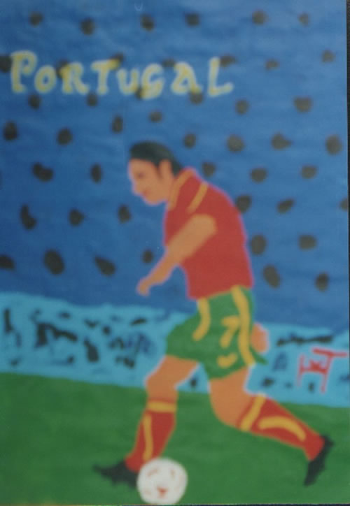 Picture of the painting: 'Portugal - Footballer Luis Vigo.'