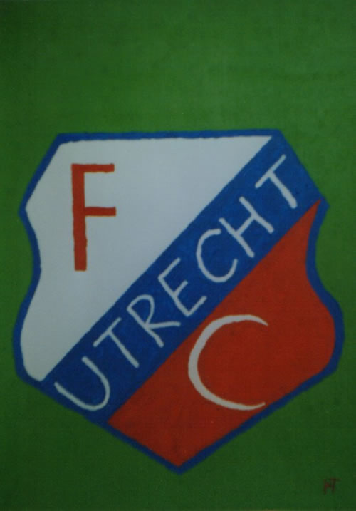 Picture of the painting: 'FC Utrecht - Coat of Arms of a Dutch football club.'