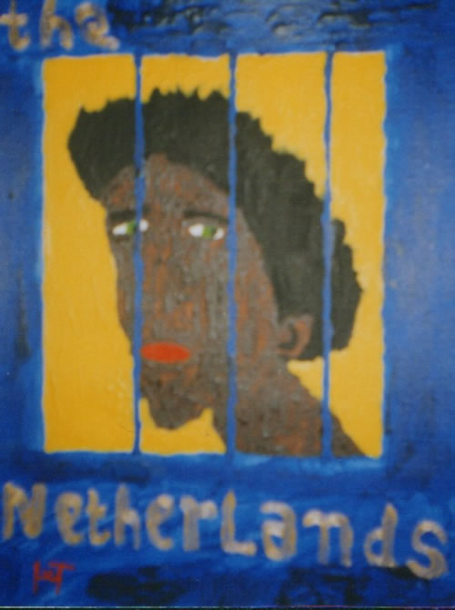 Picture of the painting: 'The Netherlands - The Netherlands like a prison.'