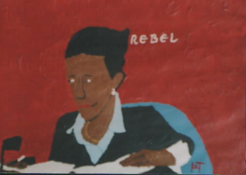Picture of the painting: 'Rebel - Ayaan Hirsi Ali'