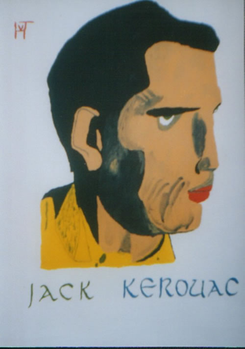 Picture of the painting: 'Jack Kerouac - American writer and hero of the Beat Generation.'