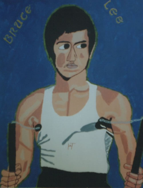 Picture of the painting: 'Bruce Lee - Master of Kung Fu and filmstar.'