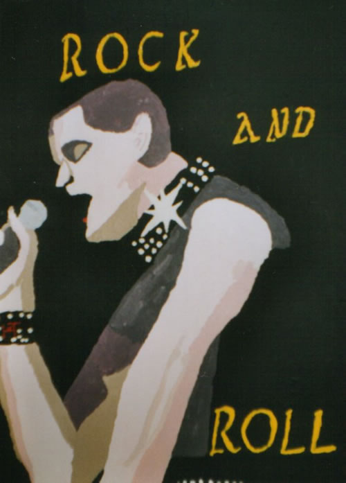 Picture of the painting: 'Rock And Roll - The American singer Lou Reed.'