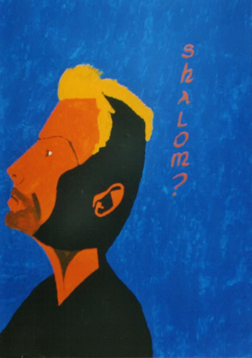 Picture of the painting: 'Shalom? - Sting, the singer.'