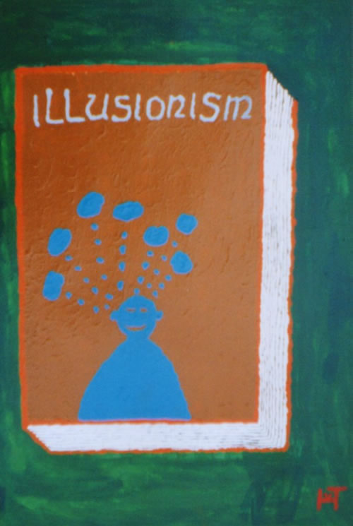 Picture of the painting: 'Illusionism - Description of romans.'