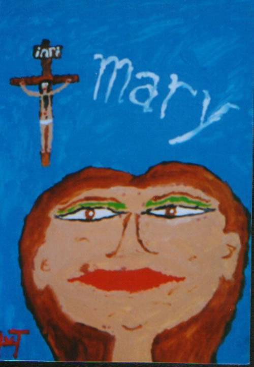 Picture of the painting: 'Mary - The mother of Christ.'