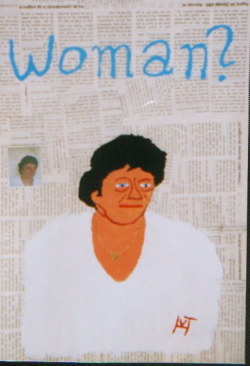 Picture of the painting: 'Woman? - Founded by a guy in a newspaper.'