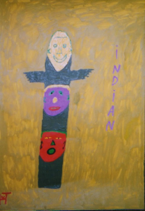 Picture of the painting: 'Indian - Totempole'