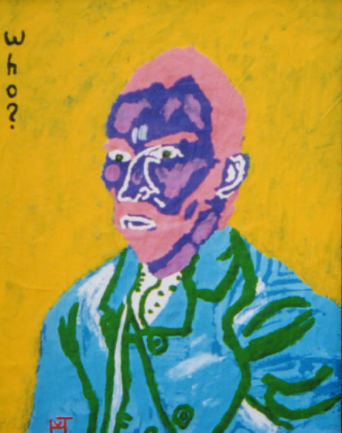 Picture of the painting: 'Who? - Vincent van Gogh, Dutch painter.'