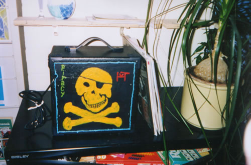 Picture of the painting: 'Piracy - My amplifier.'