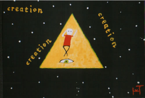 Picture of the painting: 'Creation - The miracle of creation.'
