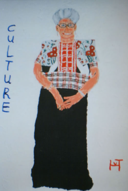 Picture of the painting: 'Culture - A woman in traditional costume  (Spakenburg in Holland).'
