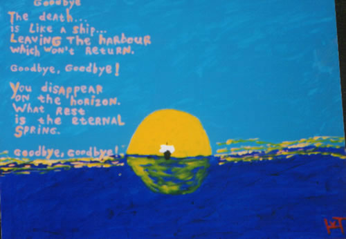 Picture of the painting: 'Goodbye - A poem!'