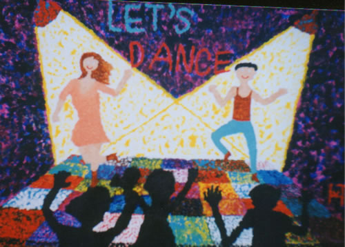 Picture of the painting: 'Let's Dance - A disco!'
