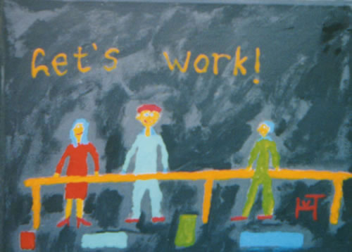 Picture of the painting: 'Let's work! - Mission!'