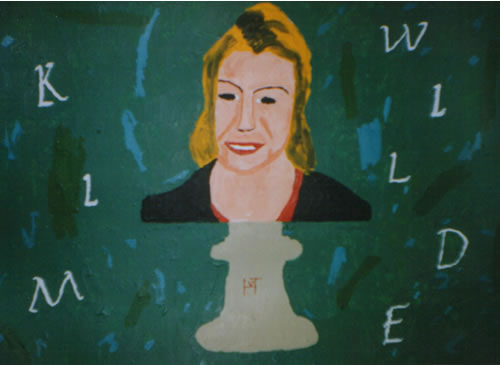 Picture of the painting: 'Kim Wilde - Bust of singer.'