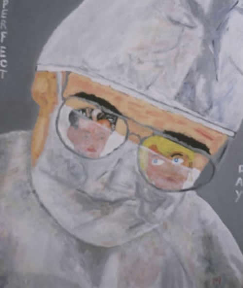 Picture of the painting: 'Perfect Day - The first day of a perfect couple into the sick world.'