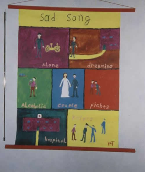 Picture of the painting: 'Sad song - A tearjerker about my youth.'