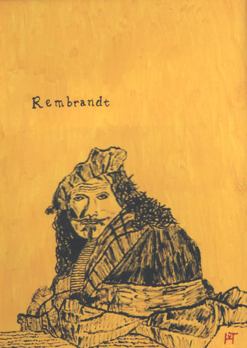 Picture of the painting: 'Rembrandt - The Dutch famous painter.'