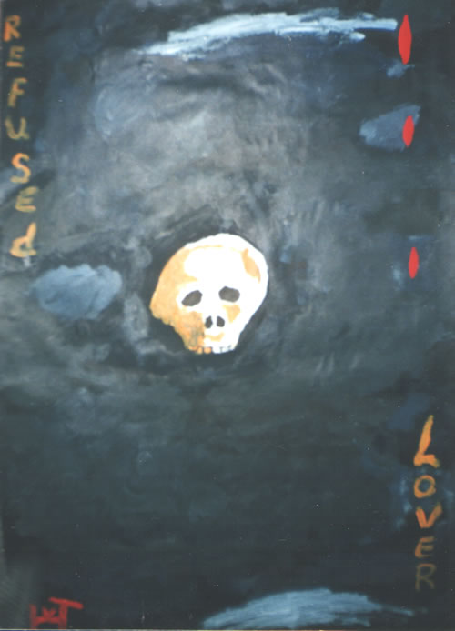 Picture of the painting: 'Refused Lover - The death as result.'