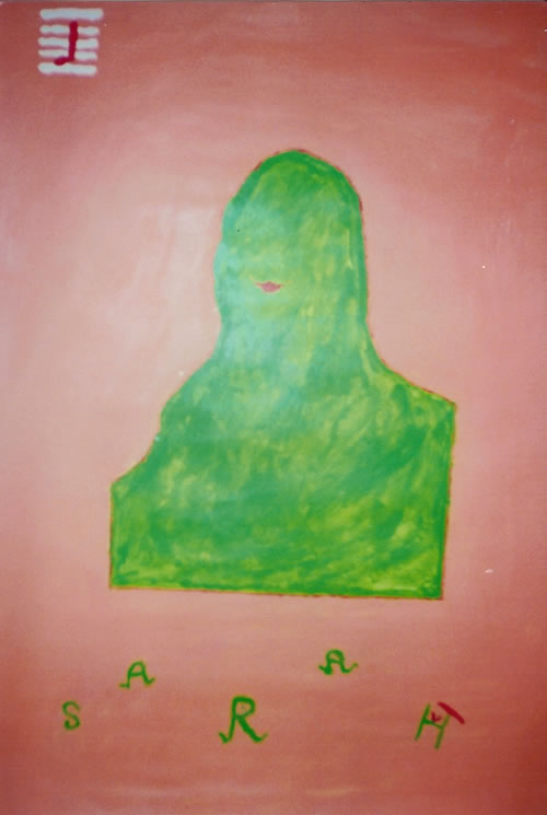 Picture of the painting: 'Sarah - The eternal smile of Mona Lisa!'