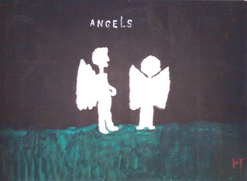 Picture of the painting: 'Angels - to painting The Angelus of painter Millet.'