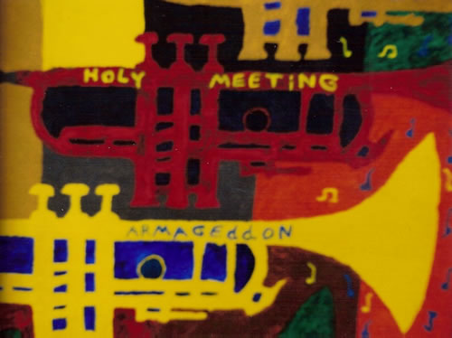 Picture of the painting: 'Armageddon - Holy meeting between a man and woman who be an eternal human couple.'