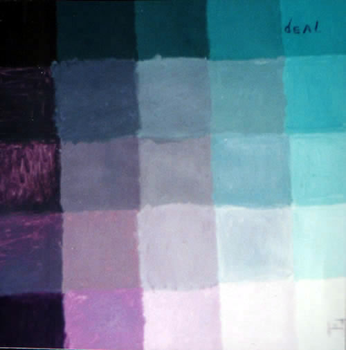 Picture of the painting: 'Deal - The deal between colours.'