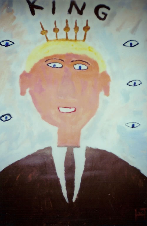 Picture of the painting: 'King! - Na?ef painting of the Crownprince of Holland.'