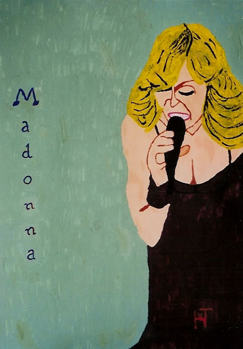 Picture of the painting: 'Madonna - American singer'