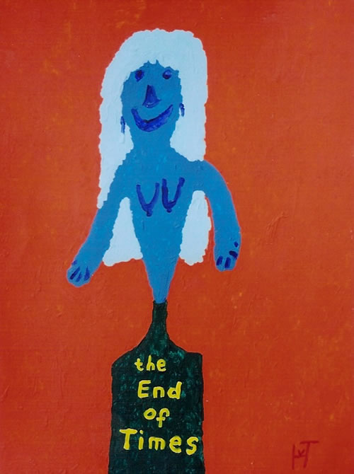 Picture of the painting: 'the End of Times - the Spirit of God (JHWH)'