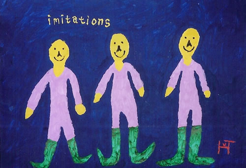 Picture of the painting: 'Imitations - Three brothers.'