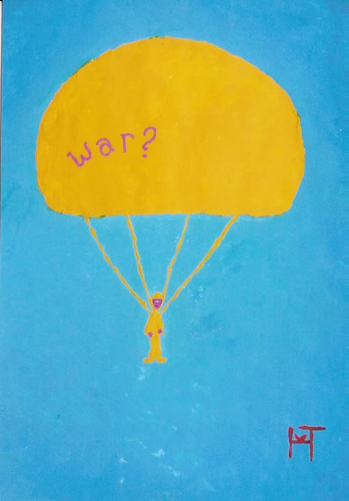 Picture of the painting: 'War? - Peace or war?'