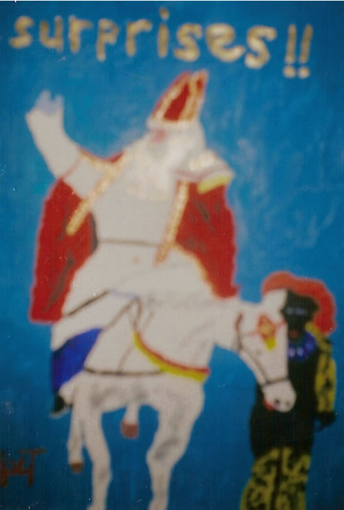 Picture of the painting: 'Surprises!! - Saint Nicholas!'