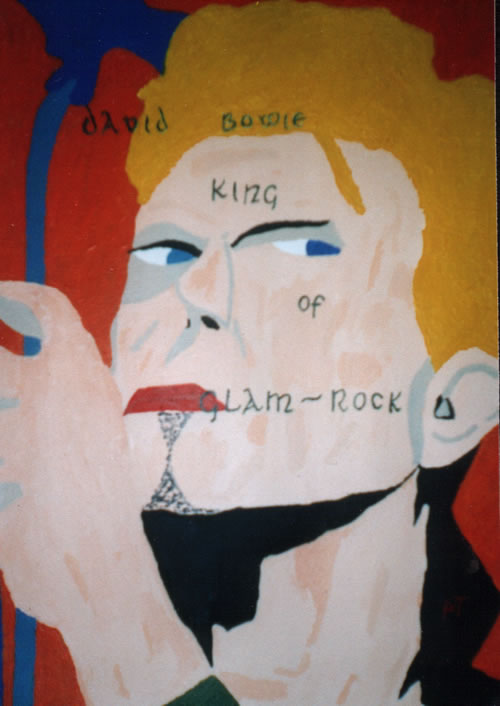 Picture of the painting: 'David Bowie - King of Glam-Rock!'