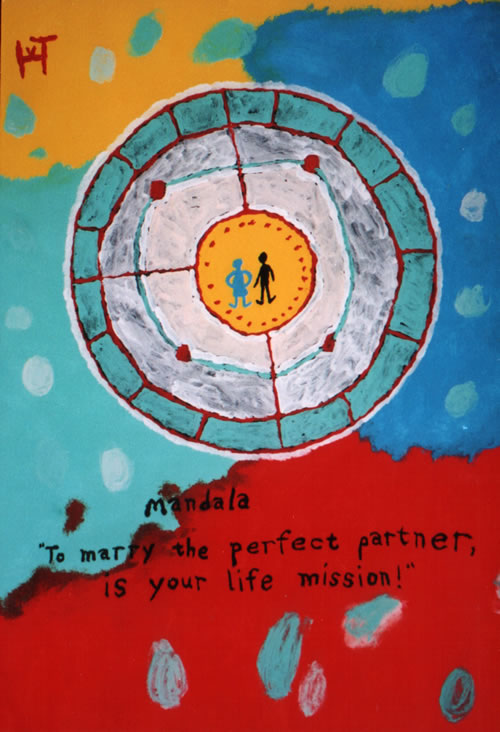Picture of the painting: 'Mandala - To marry the perfect partner is your life mission!'