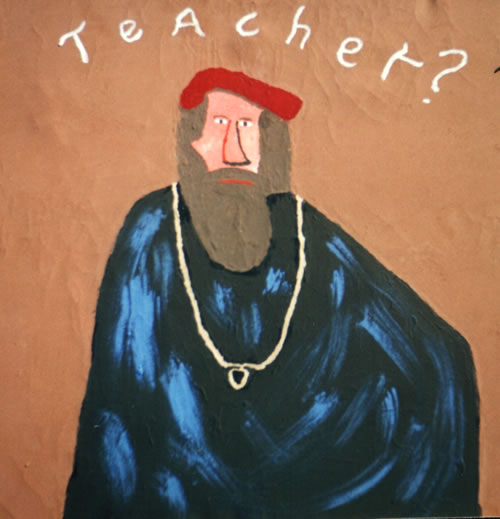 Picture of the painting: 'Teacher? - A Jewish rabbin...'