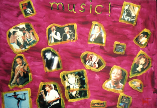 Picture of the painting: 'Music! - Famous singers!'