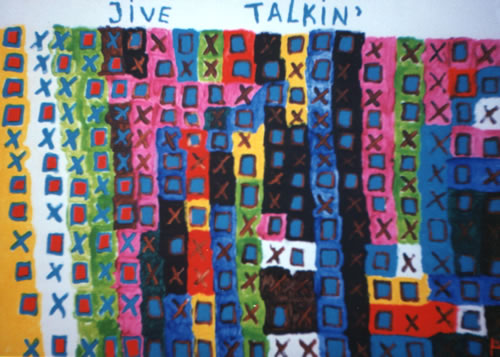 Picture of the painting: 'Jive Talkin' - A title of a song of the Bee Gees!'