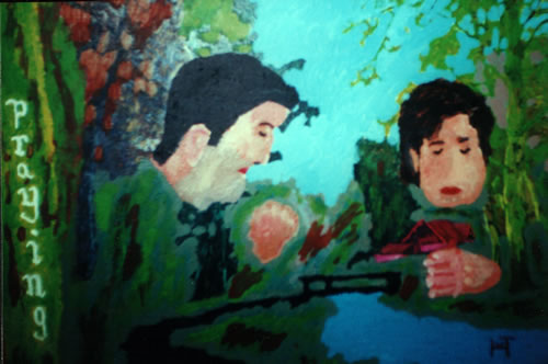 Picture of the painting: 'Praying - A praying couple!'