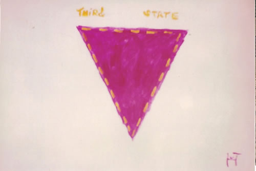 Picture of the painting: 'Third State - The Purple Triangle'