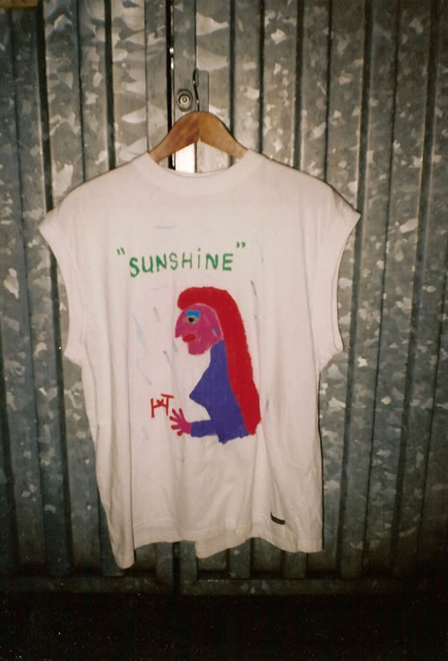 Picture of the painting: 'Sunshine - Lady with long red hair!'
