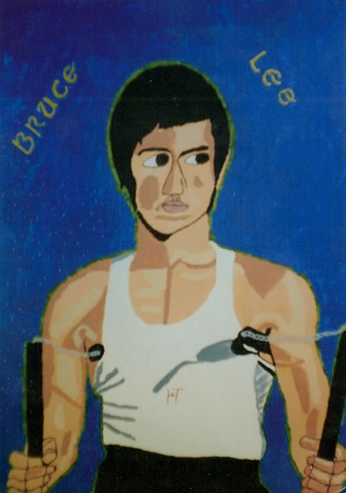 Picture of the painting: 'Bruce Lee - Kung Fu Master!'