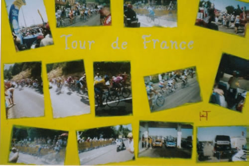Picture of the painting: 'Tour de France - In the year 2005.'