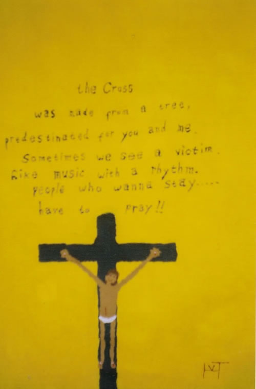 Picture of the painting: 'The Cross - Jesus Christ.'