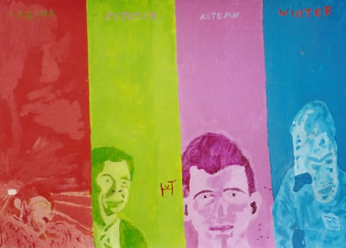 Picture of the painting: 'spring, summer, autumn, winter - The four seasons of a man!'